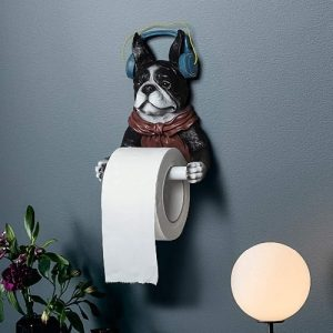 Dogs Toilet Paper Holder