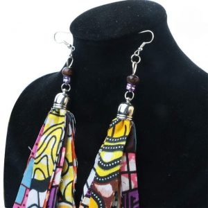 African Fabric Handmade Earrings