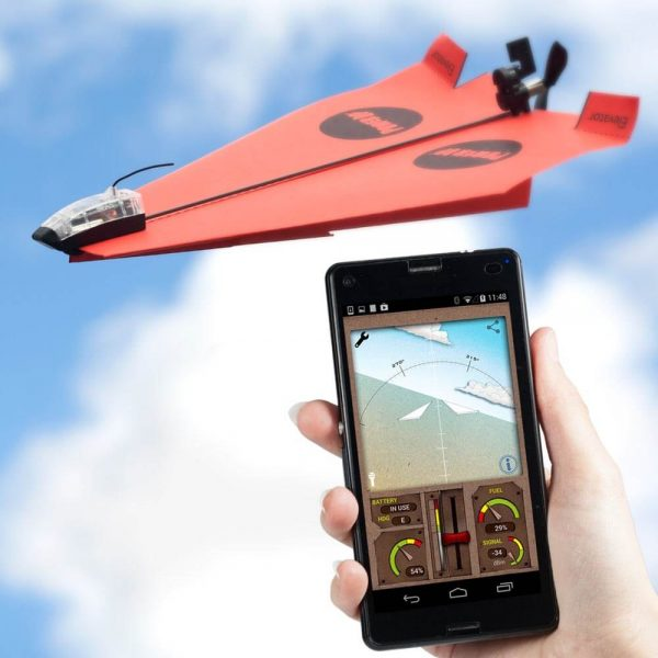 Smartphone Controlled Paper Airplanes Conversion Kit