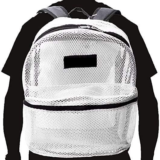 Travel Sport See Through Mesh Backpacks